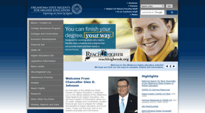 okhighered.org - oklahoma state regents for higher education  welcome