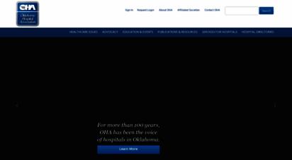 okoha.com - oklahoma hospital ssociation  featured content - home