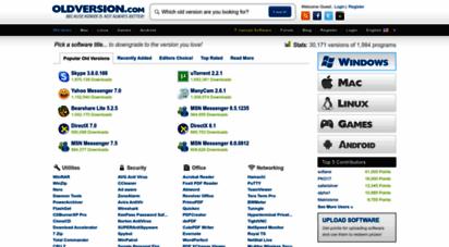 oldversion.com - old versions of windows, mac and linux software, apps & abandonware games - download at oldversion.com