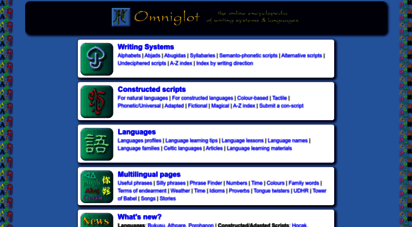 omniglot.com - omniglot - the encyclopedia of writing systems and languages