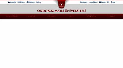 omu.edu.tr - omü  ondokuz mayıs üniversitesi