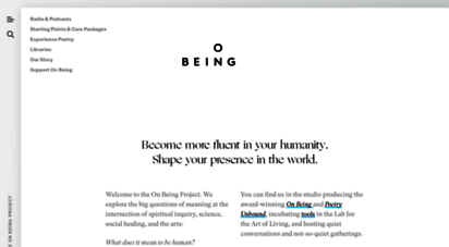 onbeing.org - the on being project