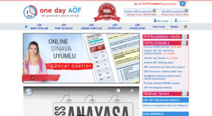 onedayaof.com - alfa akademi: aöf güncel ve kısa ders özetleri, yardımcı kitaplar ve çözümlü sorular