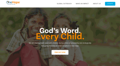Welcome to OneHope | God's Word. Every Child.