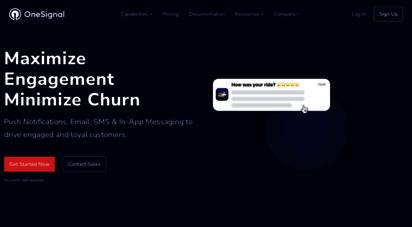 onesignal.com - 1 push service  send mobile & web push notifications,… - onesignal