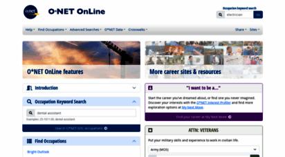 onetonline.org - onet online