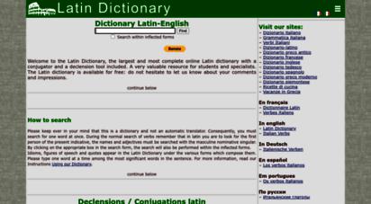online-latin-dictionary.com - online latin dictionary