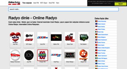 online-radyo.net - radyo dinle, online radyo, canlı radyo dinle, radyo, radyo frekansları