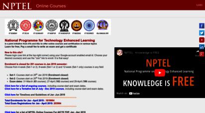 onlinecourses-archive.nptel.ac.in -