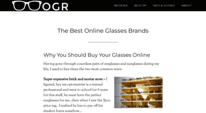 onlineglassesreview.com - the best online glsss brands - quality and affordability