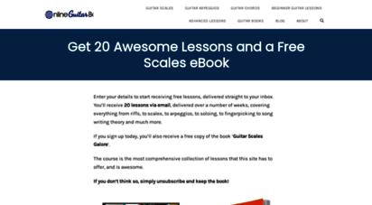 onlineguitarbooks.com - online guitar books - guitar books and resources for players and teachers