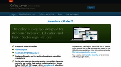 onlinesurveys.ac.uk - online surveys