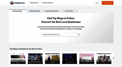 ontoplist.com - blog directory and business listings - ontoplist
