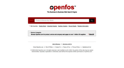 openfos.com - the business to business web search engine