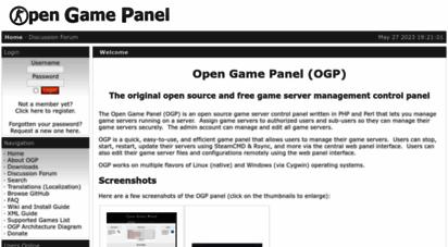 opengamepanel.org - open game panel - news