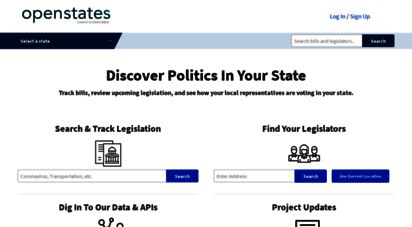 openstates.org - open states: discover politics in your state - open states