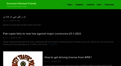 opfblog.com - overseas pakistani friends