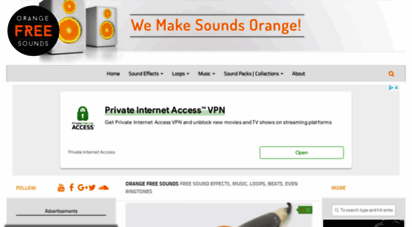 orangefreesounds.com - free sound effects, music, loops  orange free sounds