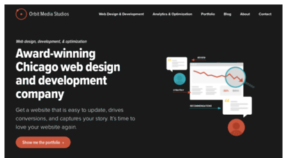 orbitmedia.com - award winning web design and development company from chicago
