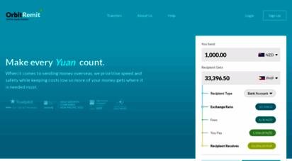 orbitremit.com - orbitremit global money transfer - send money online