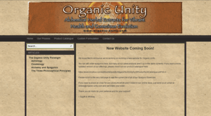 organic-unity.com - organic unity  alchemical herbal extracts for vibrant health and conscious evolution