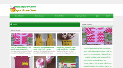 orgu-evi.com - örgü dantel ve el işleri sitesi  türkiye´nin örgü ve el işleri sitesi