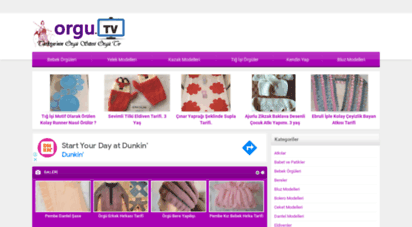 orgu.tv - örgü dantel yapılışı anlatımı resimli el işleri şal kazak atkı elbise videolu