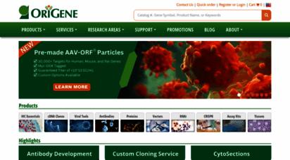 origene.com - 50,000 primary antibodies - 90,000 orf cdna clones  origene