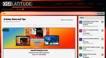 Welcome to Osxlatitude com - Articles, Guides and News