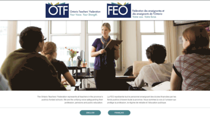 otffeo.on.ca - ontario teachers´ federation  fédération des enseignantes et des enseignants de l´ontario