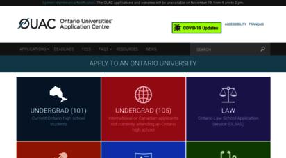 ouac.on.ca - home  ontario universities´ application centre