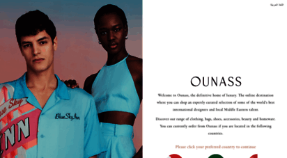 ounass.com - ounss  welcome to the definitive home of luxury