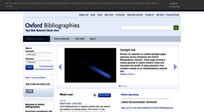 oxfordbibliographies.com - oxford bibliographies - your best research starts here - obo