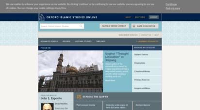 oxfordislamicstudies.com - oxford islamic studies online - oxford islamic studies online