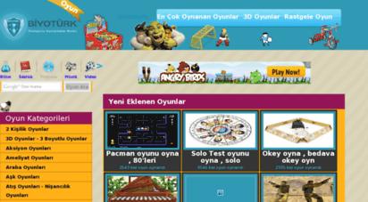oyun.biyoturk.com - biyotürk oyun oynama , 3d oyunlar ve dahi bedava flash oyunlar sitesi