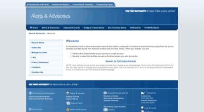 paalerts.com - port authority alerts & advisories