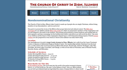 padfield.com - church of ist  zion, illinois  bible clss books, bible land photographs, free sermon outlines