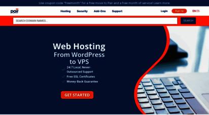 pair.com - website hosting  pair networks  shared hosting, managed wordpress, & more