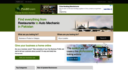 Welcome to Pakbd com - The Pakistan Business Directory help you find
