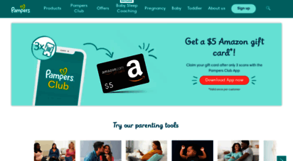pampers.com - diapers, baby care, and parenting information  pampers us