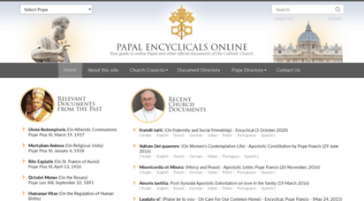 papalencyclicals.net - papal encyclicals online