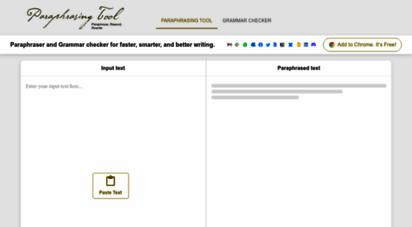 paraphrasing-tool.com - paraphrasing tool - free online text rewriting tool