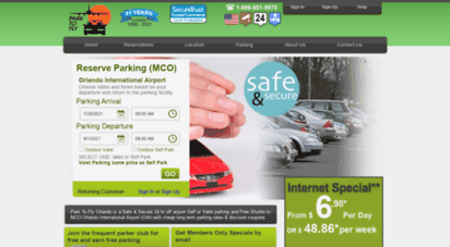 parktofly.com - park to fly, inc. new reduced rates from $4.95 per day. offering full service self and valet parking near mco orlando airport with cheap long term rates.