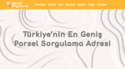 parselsorgula.com - parsel sorgula  emlak vergisi ödeme  posta kodu  nüfusu