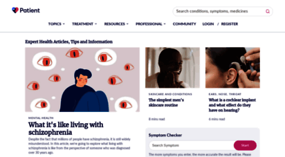 patient.info - symptom checker, health information and medicines guide  patient