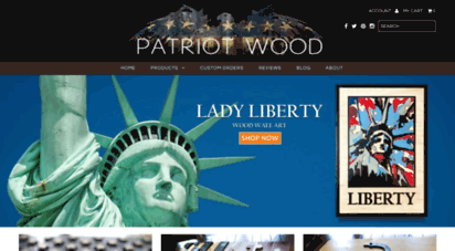 patriotwood.com - patriot wood  wood flags and wall art, made by hand