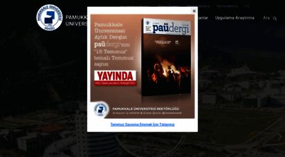 pau.edu.tr - pamukkale üniversitesi