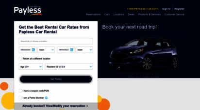 paylesscar.com - payless car rental  rental cars at discount rates