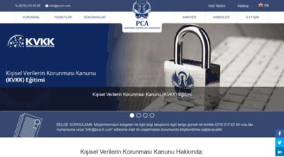 pca-tr.com - pca sertifikasyon