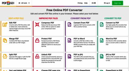 pdf2go.com - online pdf er - edit, rotate and compress pdf files